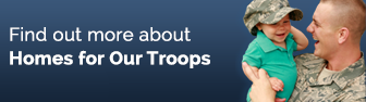 Homes For Our Troops Button