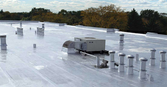 Commercial Roof With AC Unit